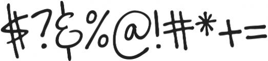 Zurdo otf (400) Font OTHER CHARS