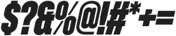 Zuume Cut ExtraBold Italic otf (700) Font OTHER CHARS