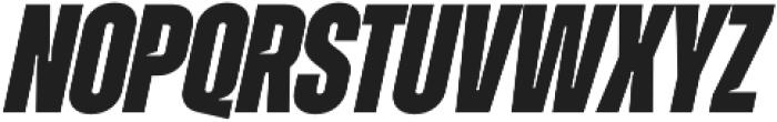 Zuume Cut ExtraBold Italic otf (700) Font UPPERCASE