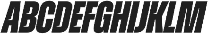Zuume Cut ExtraBold Italic otf (700) Font LOWERCASE