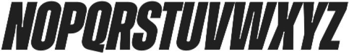 Zuume ExtraBold Italic otf (700) Font UPPERCASE