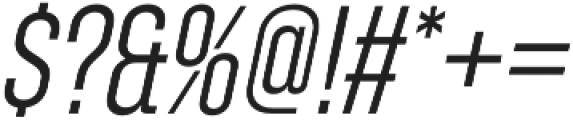 Zuume Light Italic otf (300) Font OTHER CHARS