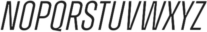 Zuume Light Italic otf (300) Font UPPERCASE