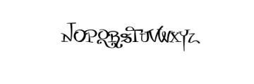 Zurika-Regular.otf Font UPPERCASE