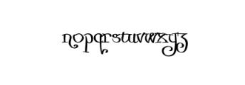 Zurika-Regular.otf Font LOWERCASE