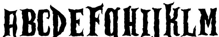 Zu Kabarett Destroy Font LOWERCASE