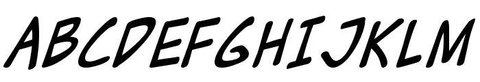 Zud Juice Italic Font UPPERCASE