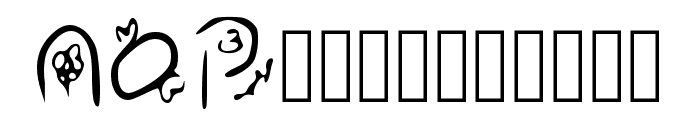 Zudlove Regular Font LOWERCASE
