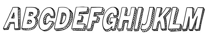 Zuka Doodle Font UPPERCASE