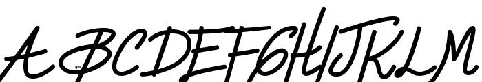 Zule DEMO Script Font UPPERCASE