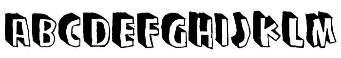 Zupagargonizer T Font UPPERCASE