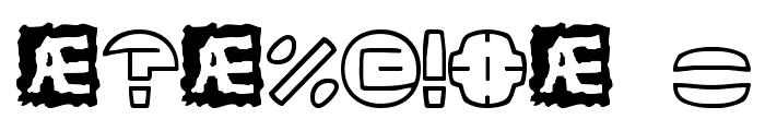 Zurklez Outline BRK Font OTHER CHARS