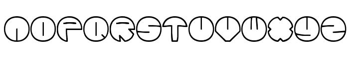Zurklez Outline BRK Font LOWERCASE