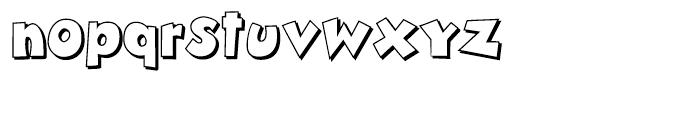 Zubilo Shadow Font LOWERCASE