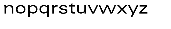 Zurich Extended Font LOWERCASE