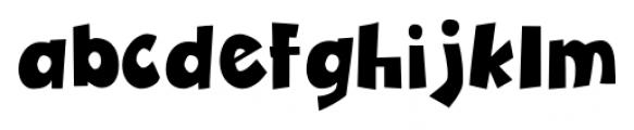 Zubilo Black Font LOWERCASE