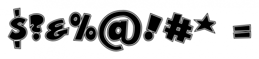 Zubilo Inline Font OTHER CHARS