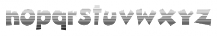 Zubilo Lined Font LOWERCASE