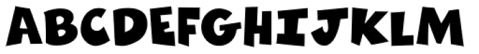 Zubilo Black Font UPPERCASE
