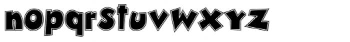 Zubilo Inline Font LOWERCASE