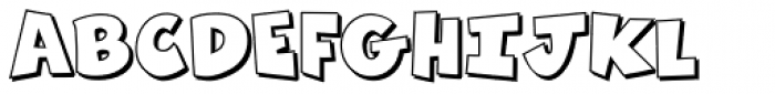 Zubilo Shadow Font UPPERCASE