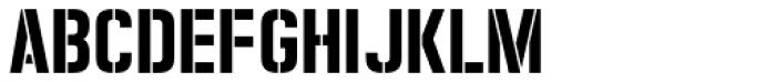 Zuboni Stencil Font LOWERCASE