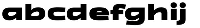 Zupra Sans Black Font LOWERCASE