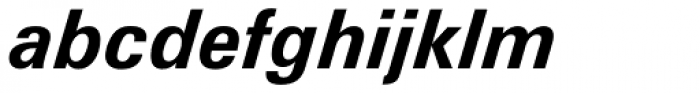 Zurich Bold Italic Font LOWERCASE
