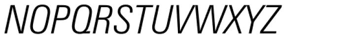 Zurich Condensed Light Italic Font UPPERCASE