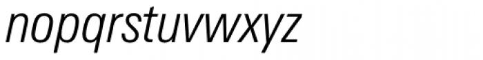 Zurich Condensed Light Italic Font LOWERCASE