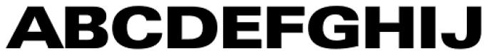 Zurich Extended UltraBlack Font UPPERCASE