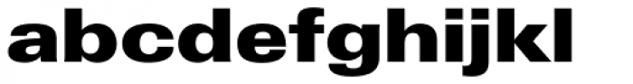 Zurich Extended UltraBlack Font LOWERCASE