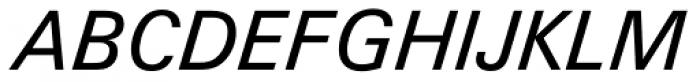 Zurich Italic Font UPPERCASE