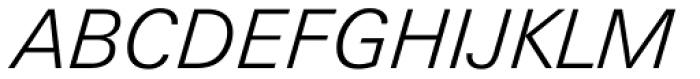 Zurich Light Italic Font UPPERCASE