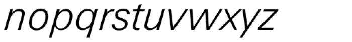 Zurich Light Italic Font LOWERCASE