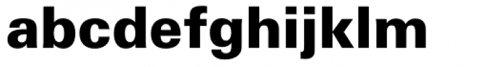 Zurich WGL4 Black Font LOWERCASE