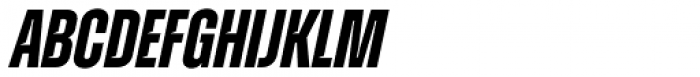Zuume Cut Bold Italic Font UPPERCASE