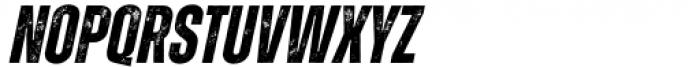 Zuume Rough Bold Italic Font UPPERCASE