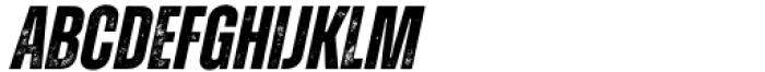Zuume Rough Bold Italic Font LOWERCASE