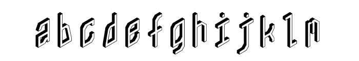 ZX80 Font LOWERCASE