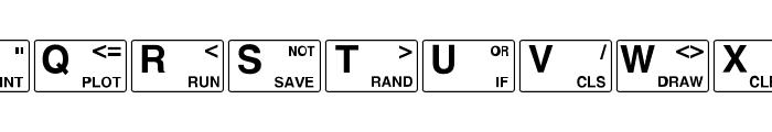 ZXSpectrum Font LOWERCASE