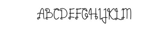 Zyamatyca Font UPPERCASE