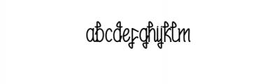 Zyamatyca Font LOWERCASE