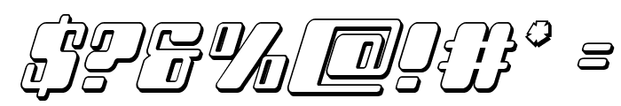 Zyborgs 3D Italic Font OTHER CHARS
