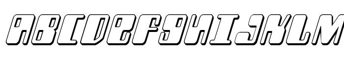 Zyborgs 3D Italic Font UPPERCASE