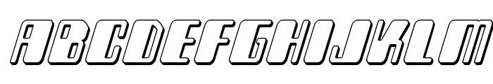 Zyborgs 3D Italic Font LOWERCASE