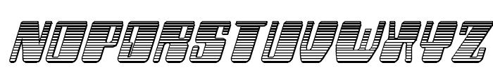 Zyborgs Chrome Italic Font UPPERCASE