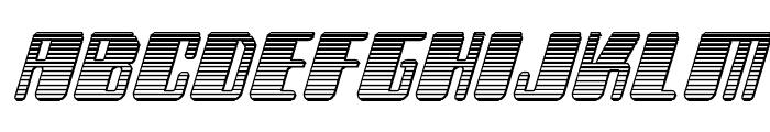 Zyborgs Chrome Italic Font LOWERCASE