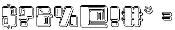 Zyborgs Engraved Font OTHER CHARS
