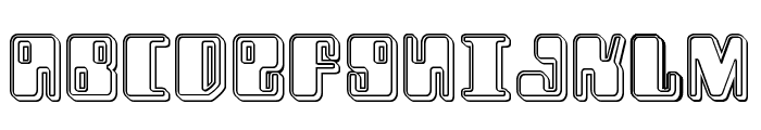 Zyborgs Engraved Font UPPERCASE